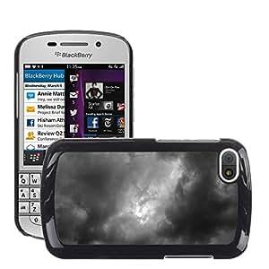 Etui Housse Coque de Protection Cover Rigide pour // M00151143 Nubes oscuras nubes después de la // BlackBerry Q10
