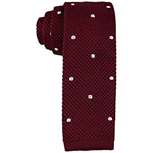 Tommy Hilfiger Mens Knit Woven Dot-Pattern Skinny Tie