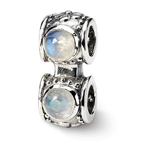 925 Sterling Silver Charm For Bracelet Moonstone Connector Bead Stone Crystal Fine Jewelry Gifts For Women For Her