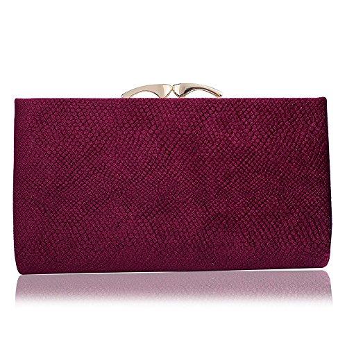 Dress for Womens Purse Party Cocktail Evening Clutch Violetred Handbag WALLYN'S Formal Bag Wedding Wallet HX4wRXq