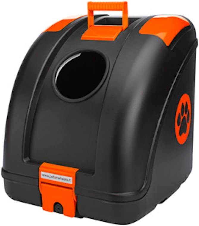Pet Carrier for Dogs and Cats Easy Mounting on Scooter Motorcycle Orange Inserts POW Pet on Wheels Bike and also suitable for Car Main Colour White