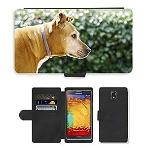 CARD POCKET BOOK CASE PU LEATHER CASE // M00148219 Animal Dog Is Watching Naturaleza // Samsung Galaxy Note 3 III N9000 N9002 N9005
