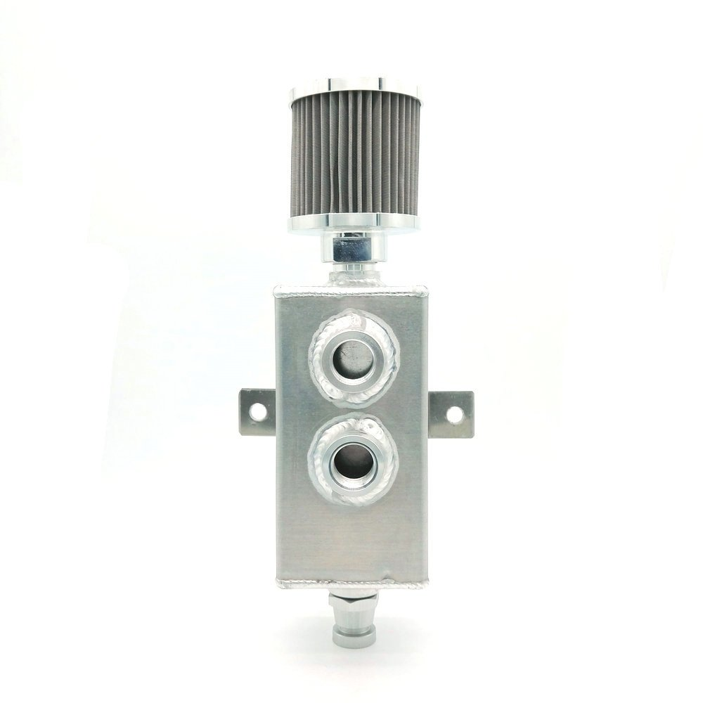 heinmo 1L Universal Raw Aluminium-Ö l Catch kann Tank Breather &-Auslaufhahn 5067 Heinmo Plus