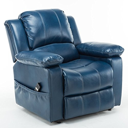 Comfort Pointe Spence Navy Blue Leather Gel Lift Chair