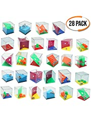 The Twiddlers Mini Game Puzzles - Set of 28 - Assorted levels of Games - Perfect for Party Bags - Party Suitable for Adults & Children