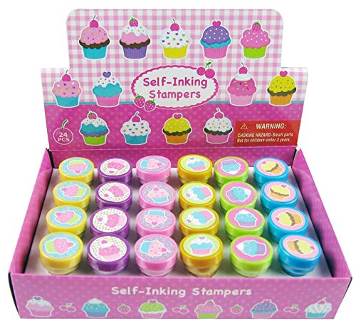 TINYMILLS 24 Pcs Cupcakes Stampers for Kids