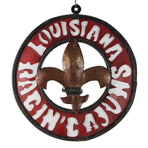 - Connie N Randy Louisiana Ragin Cajuns Metal Fleur De Lis Sign