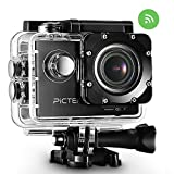 2016[Upgraded Version] Action Camera - Pictek Waterproof Underwater Camera WIFI Action 2.0 Inch HD 1080P Sports Camera with 170 Degree Wide Angle Lens,Multiple Accessories Kit,for Outdoor Sports Bicycle Motorcycle Diving Swimming Skiing Sliver