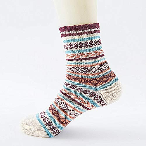 Amazon.com: Treading - Winter Thick Warm Stripe Wool Socks Casual Calcetines Hombre Sock Business Male Socks [ 19 ]: Office Products