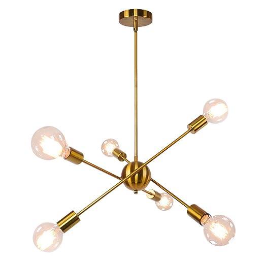 Amazon.com: OYIPRO Sputnik Lámpara de araña, 6 luces ...