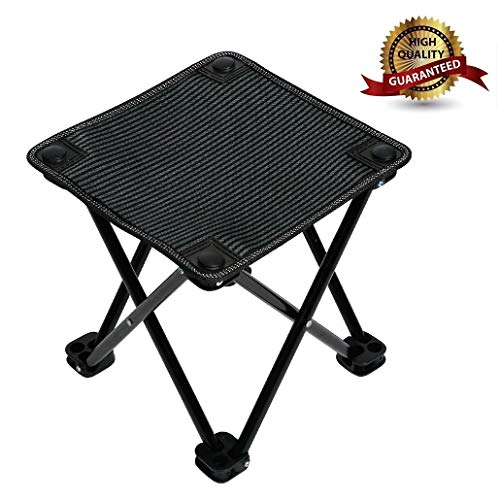 - Garne T Mini Portable Folding Stool,Outdoor Folding Chair for Camping,Fishing,Travel,Hiking,Garden,Beach, Quickly-Fold Chair Oxford Cloth with Carry Bag