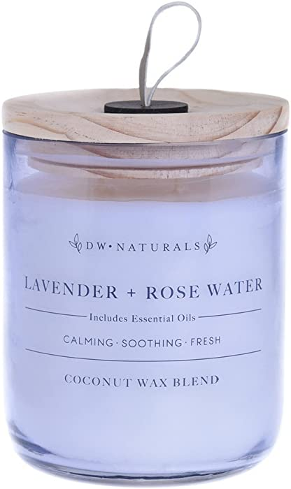 DW Home Naturals Lavender & Rose Water 2 Wick Candle 17 oz.