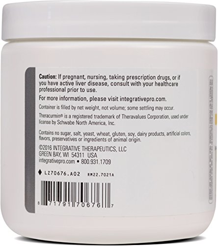 Integrative Therapeutics Glutamine Forté L Glutamine with Bioavailable Theracurmin Lemon Lime Flavor 7.1 oz