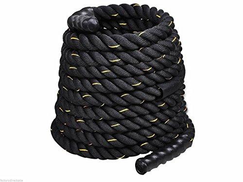Giantex 1.5 Workout Strength Training Undulation Poly Dacron Battle Rope Black