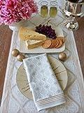 Vanilla Glace ~ White Gold Romantic Elegant Dinner Napkins