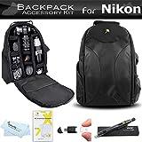 Essentials Accessory Bundle Kit For Nikon Df, D5500, D5300, D3300, D3200, D7200, D7100, D7000, D600, D610 Digital SLR Camera and Blackmagic Pocket Cinema Camera Includes Deluxe BackPack Case + More
