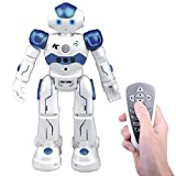 Remote Control Rc Robot Toy Gift, Kuman Smart Robotics Kits Walking Sing Dancing Programmable and Gesture Sensing for Children Kids Entertainment KR2 (Programmable RC Robot)