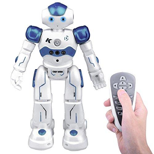 Kuman Remote Control Rc Robot Toy Gift, Smart Robotics Kits Walking Sing Dancing Programmable and Gesture Sensing for Children Kids Entertainment KR2 (RC Robot)