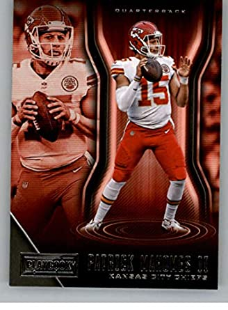 2018 Playbook Football  32 Patrick Mahomes II Kansas City Chiefs Official  NFL Card Produced by 4242c9237
