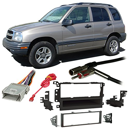 Fits Chevy Tracker 1998-2004 Single DIN Stereo Harness Radio Install Dash Kit