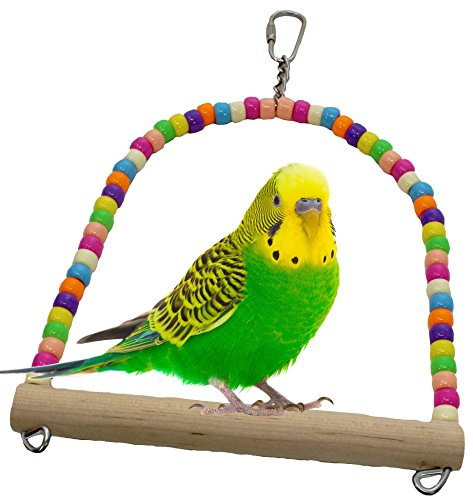1324 Swing Bird TOY Parrot Cage Toys Cages Parakeet Cockatiel Finch Lovebird Budgie (Budgie Swing)
