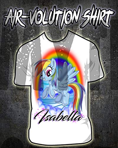 Personalized Airbrush My Little Pony Rainbow Dash Shirt