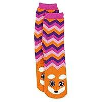 Girls Cozy Critter Slipper Socks Unicorn Cat Zebra Fox (Little Kid/Big Kid)