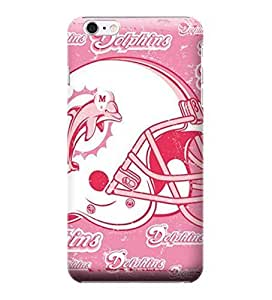 iPhone 6 Cases, NFL - Miami Dolphins - Blast Pink - iPhone 6 Cases - High Quality PC Case
