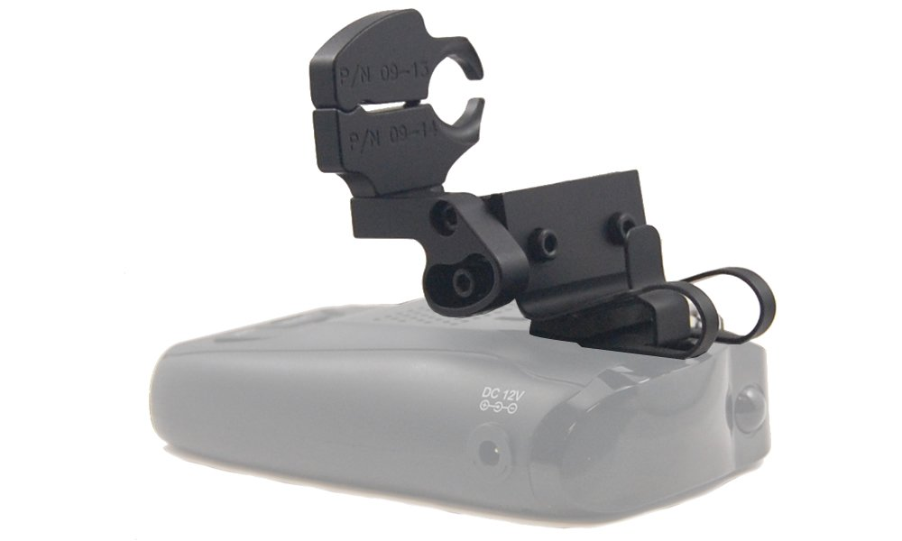 BlendMount BND-2021, Porsche Aluminum Radar Detector Mount for Uniden DFR1/5/6/7 - Compatible with BlendMount Mirror ID POR-002/POR-009 - Made in USA - Looks Factory Installed