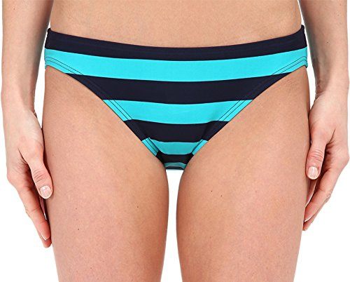 DKNY Women's Iconic Stripe Classic Bottom Currant Swimsuit Bottoms XS (US 0-2)