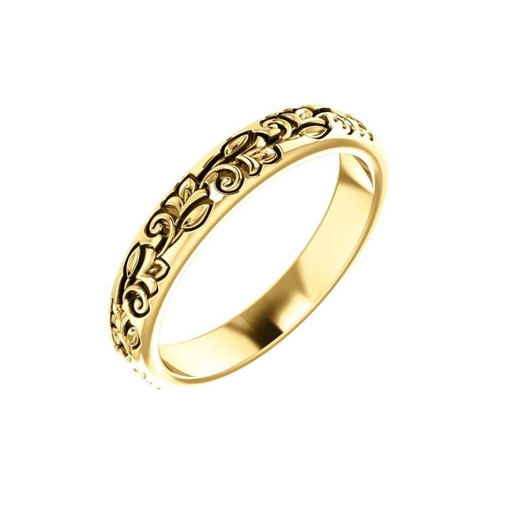 Amazon.com 14k Yellow Gold Vintage,Inspired Sculptural