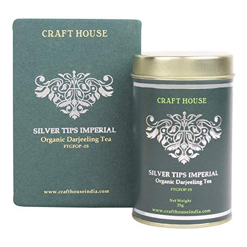 Craft House Pure Organic Darjeeling Tea Silver Tips Imperial Tea- 25 Gms by Craft House