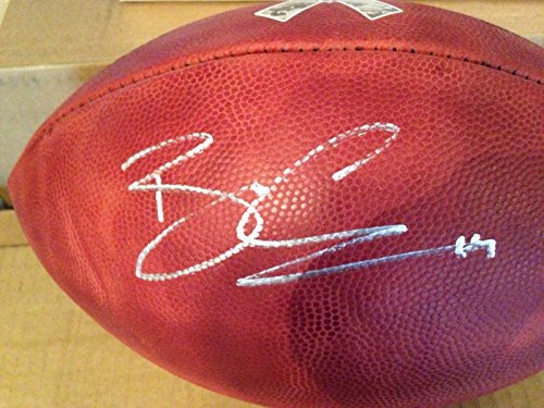 Brandin Cooks Autographed Signed NFL Salute to Service Game Model Duke Football New England (Autographed Nfl Duke Game Football)