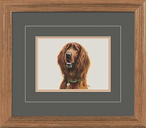 Irish Setter Portrait GNA Deluxe Framed Print by Jim Killen