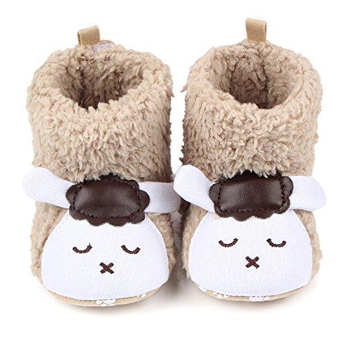 TININNA Baby Säugling Niedliche Tier Stiefel Winter warme Plüsch Stiefel Neugeborene Kleinkind Weiche Sole Krippe Schuhe Anti-Rutsch Prewalker Schuhe Khaki Schafe