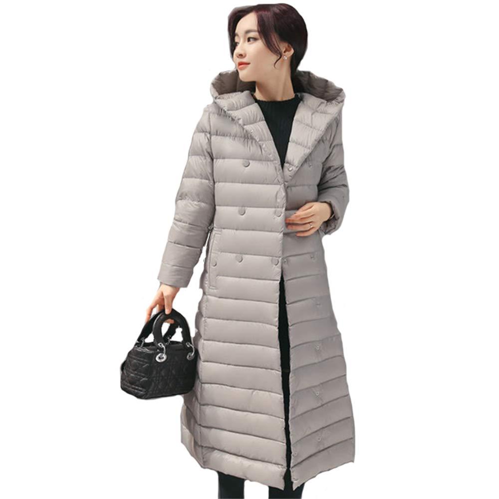 1 Autumn Winter Women Duck Downs Jacket Parkas Sashes Long Down Coat Ladies Ultra Light Outerwear Hooded Coats Plus Size