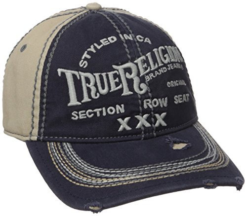 True Religion Men's Triple X Cap, True Navy, One Size
