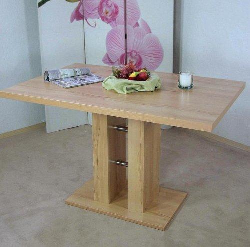 Säulentisch kernbuche Esstisch Esszimmertisch Tisch Küchentisch Esszimmer Küche