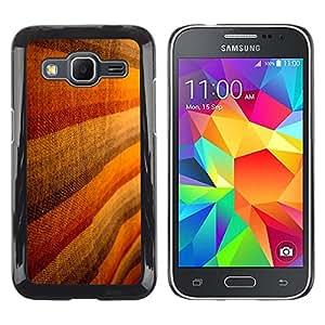 MOBMART Carcasa Funda Case Cover Armor Shell PARA Samsung Galaxy Core Prime - Brown Woolen Striped Design