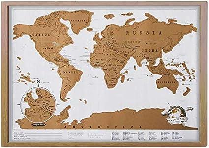 Mapa del mundo para rascar y arañar de la marca Migraphy, con ...