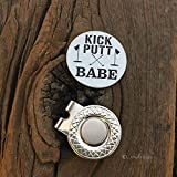 Kick Putt Babe Golf Ball Marker - Golf Disc Gift For Husband Birthday Party Gift Idea for Boyfriend Golf Ball Marker for Golfer Fiance Gift Idea Love Present