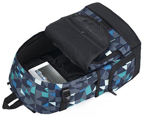 Z-joyee Fashion High School Backpacks for Boys Girls Bookbags Travel Laptop Bags