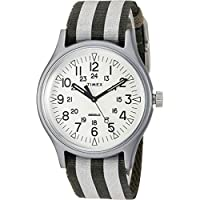 Timex Men's MK1 Aluminum 3-Hand with Reflective Strap Olive/White One Size