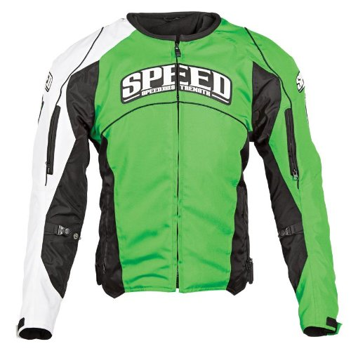 Speed and Strength Top Dead Center Men's Motorcycle Textile Jacket (Green, Large)