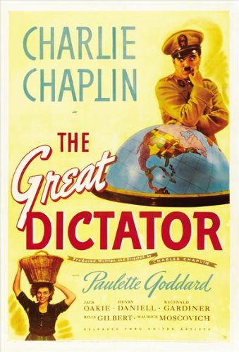 The Great Dictator Poster D 27x40 Charlie Chaplin Paulette Goddard Jack - Movie Chaplin Posters Charlie