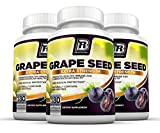 BRI Nutrition Grapeseed Extract - 95% Proanthocyanidins 400mg Servings - Strongest Standardized Extract On The Market - 180 Veggie Capsules, 3-Pack
