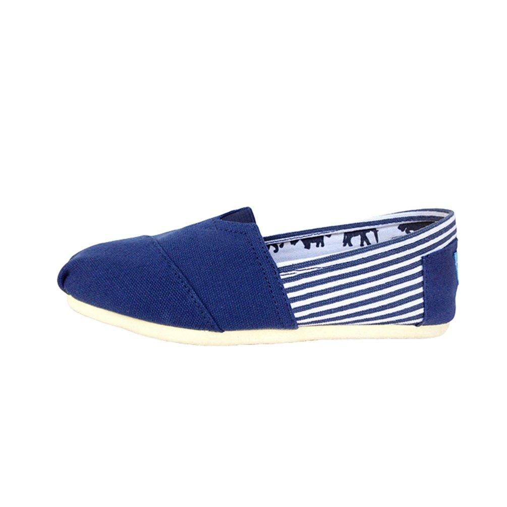 Dooxii Unisex Uomo Donna Casuale Loafers Scarpe Moda Tinta Unita Espadrillas Basse Scarpe Slip on Flats Blu 43(26.5cm)