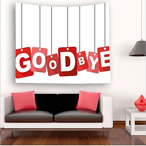 Nalahome-Going Away Party Decorations Red Square Blocks Hanging with Letters Good Bye Farewell Red Grey White tapestry psychedelic wall art tapestry hanging 27.5W x 27.5L Inches