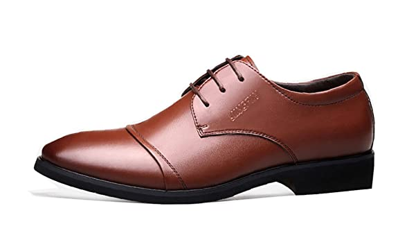 Xipai Men's Formal Leather Lace up Dress Shoes Modern Classic Oxfords(Brown)  US 11.5: Amazon.ca: Shoes & Handbags