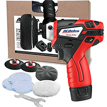 Image of Grinders & Polishers ACDelco G12 Series 12V Cordless 3' Mini Polisher Tool Set with 2 Li-ion Batteries, Charger, and Accessory Kit, ARS1212